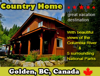 Golden BC Home for Rent