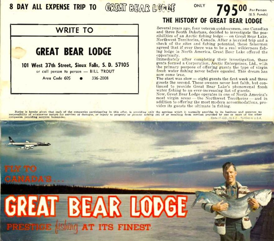 Vintage Great Bear Lodge Brochure